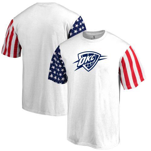Oklahoma City Thunder bílé Stars   Stripes triko - NBA Shop sk -  FanObchod.cz 2015e7779b