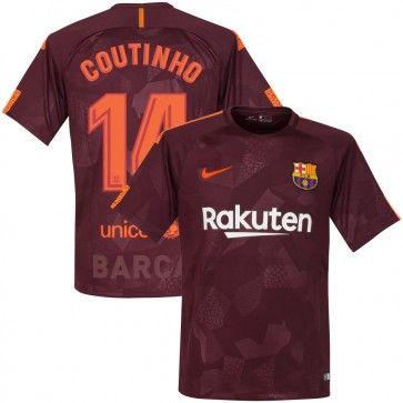 68e8fd82ed0 17-18 Barcelona 3rd Shirt + Coutinho 14 - Soccer Shop Europe - FanObchod.cz