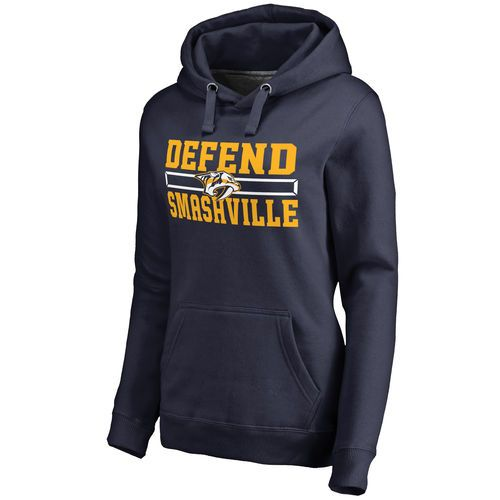 c884e1033 Women s Nashville Predators Navy Hometown Collection Defend Pullover ...