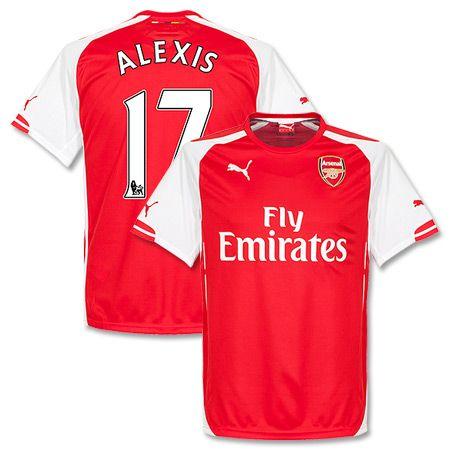 479bad023b5 14-15 Arsenal Home Shirt + Alexis 17 - Soccer Shop Europe - FanObchod.cz