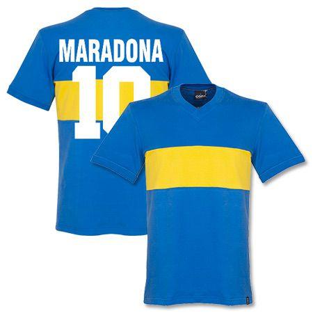huge selection of 3181b a7cd4 1960 Boca Juniors Retro Shirt + Maradona 10 - Soccer Shop ...