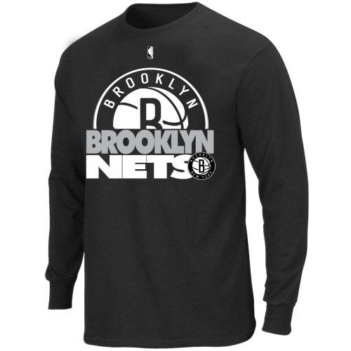 ab5cdde394c Youth Brooklyn Nets Team Gameface Long Sleeve T-Shirt - Black - NBA Shop  Europe - FanObchod.cz