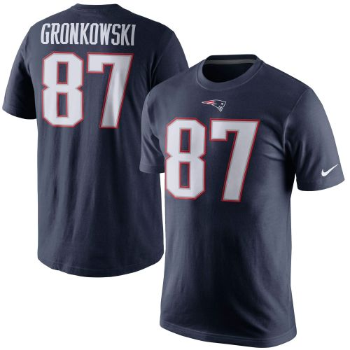 56917805 New England Patriots Rob Gronkowski Navy Blue Player Pride Name & Number T- Shirt - NFL Shop Europe - Football - FanObchod.cz