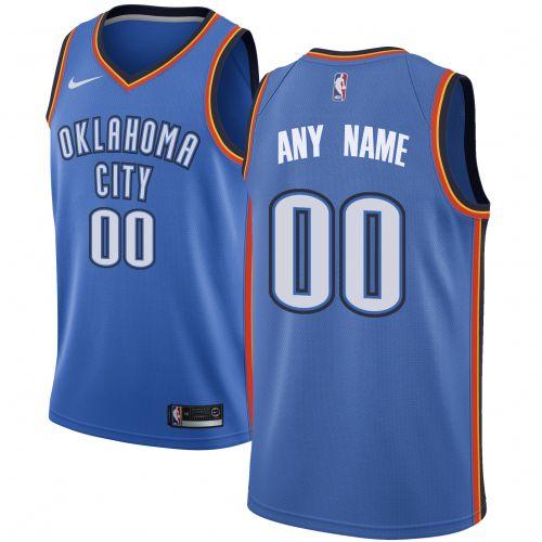 wholesale dealer a02cd fe95a Oklahoma City Thunder Blue Swingman Custom Jersey - Icon ...
