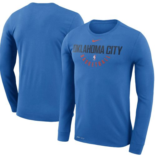 newest collection 48204 14655 Oklahoma City Thunder Blue Practice Long Sleeve Performance ...