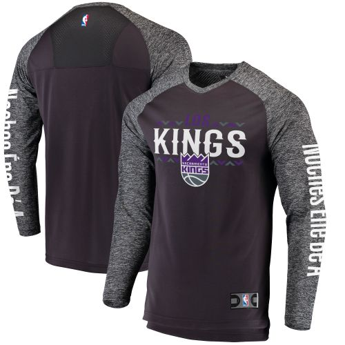 wholesale dealer f7867 f6dfa Sacramento Kings Black/Heathered Gray Noches Ene-Be-A ...