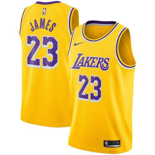 66c382719f83 Los Angeles Lakers LeBron James Gold 2018 19 Swingman Jersey - Icon Edition